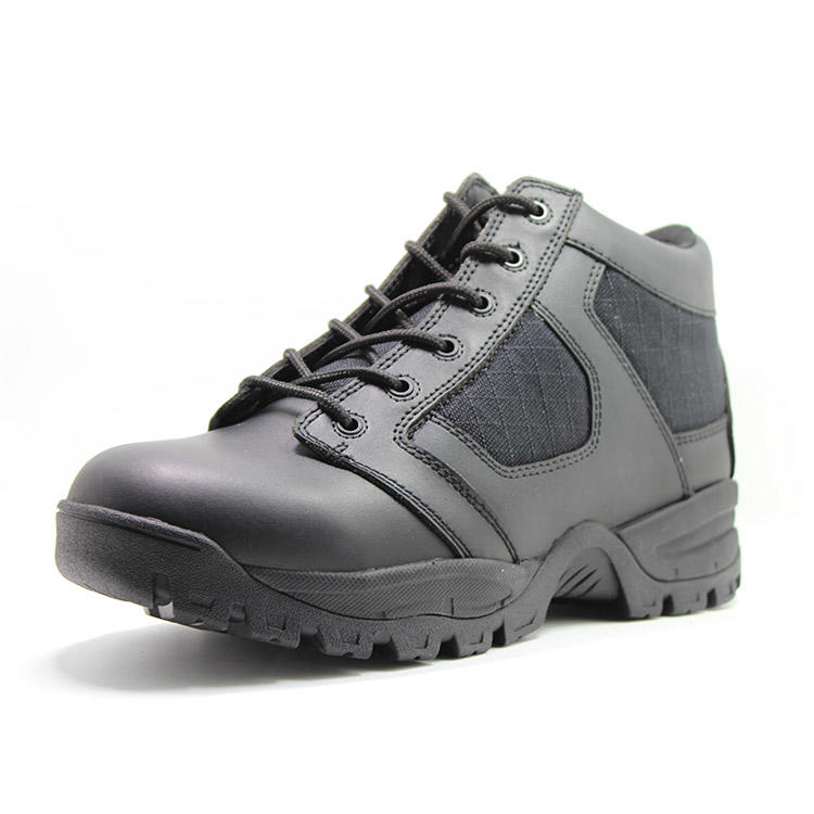 Mens black military boots