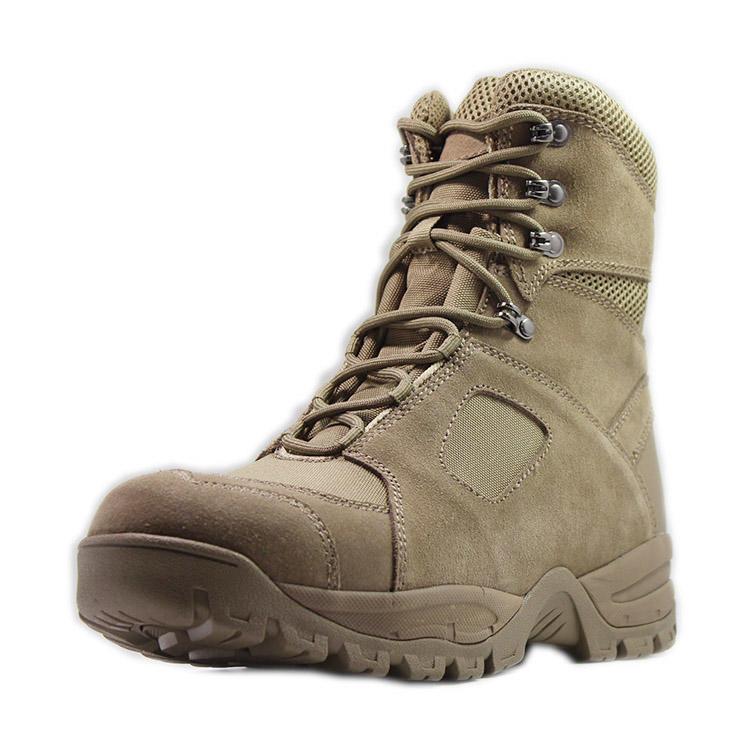 Leather army military boots