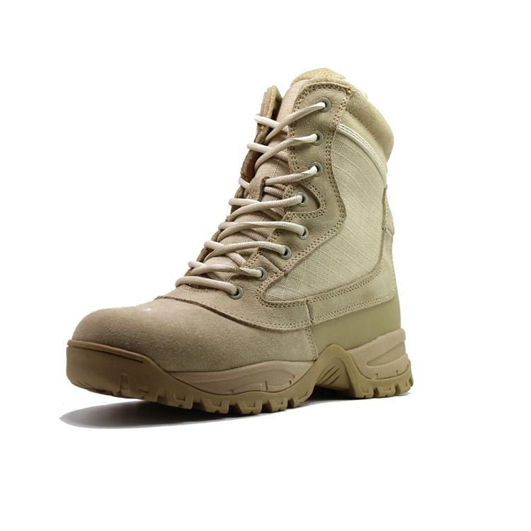 Zip sided tactical military boots