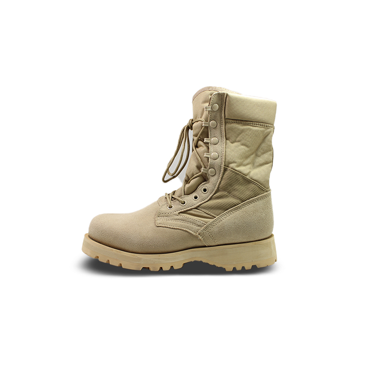 newly black military boots by Chinese manufaturer for outdoor activity-2