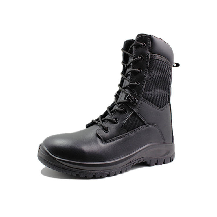 man leather military tactical boots