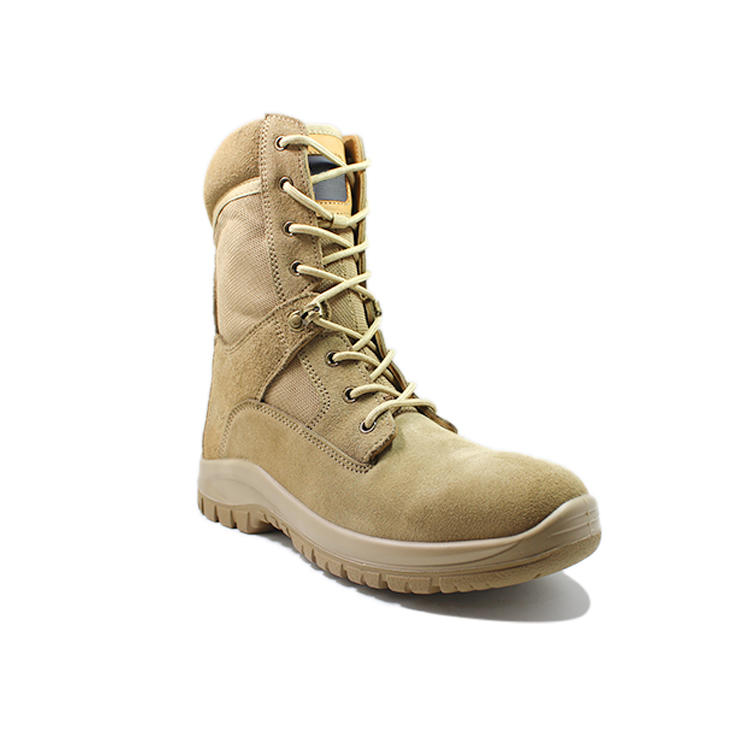 desert leather men military style boots