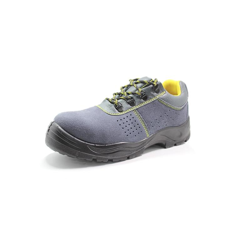 Suede leather stylish safety shoes