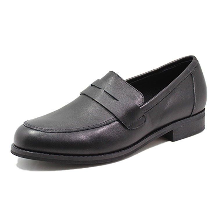 formal flat leather shoes