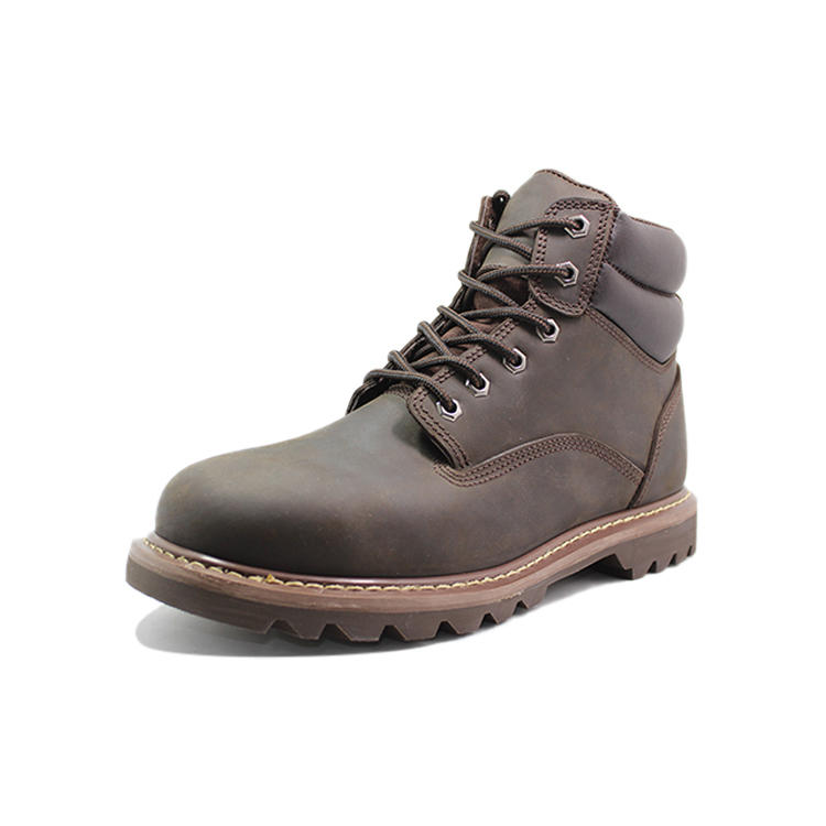Crazy Horse leather Goodyear steel toe shoes for men