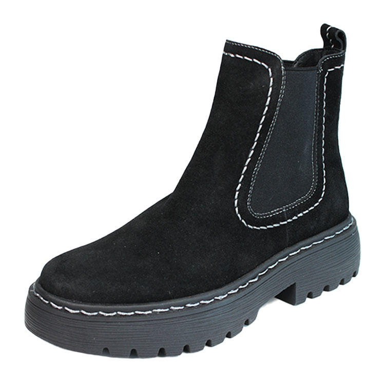 Women leather black fashion boots