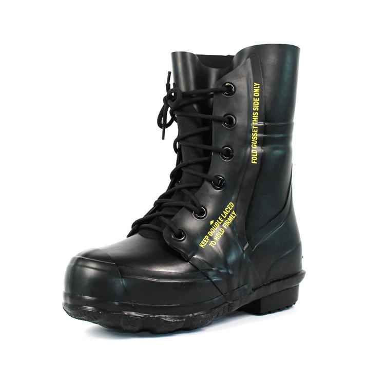 High top black rubber work boots for cold weather