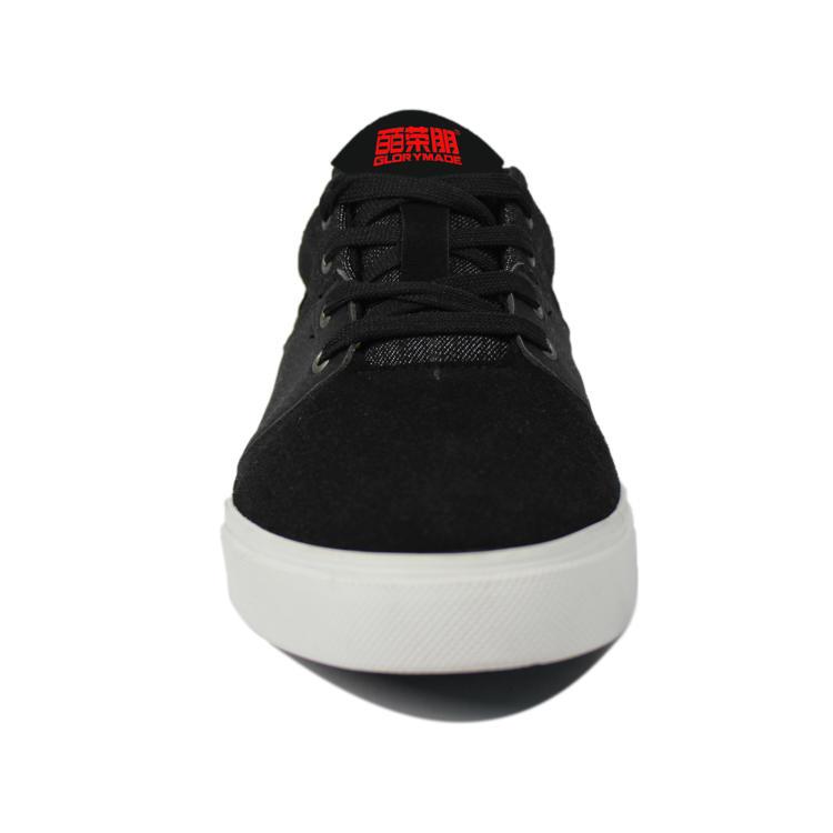 Black men ankle casual canvas shoes