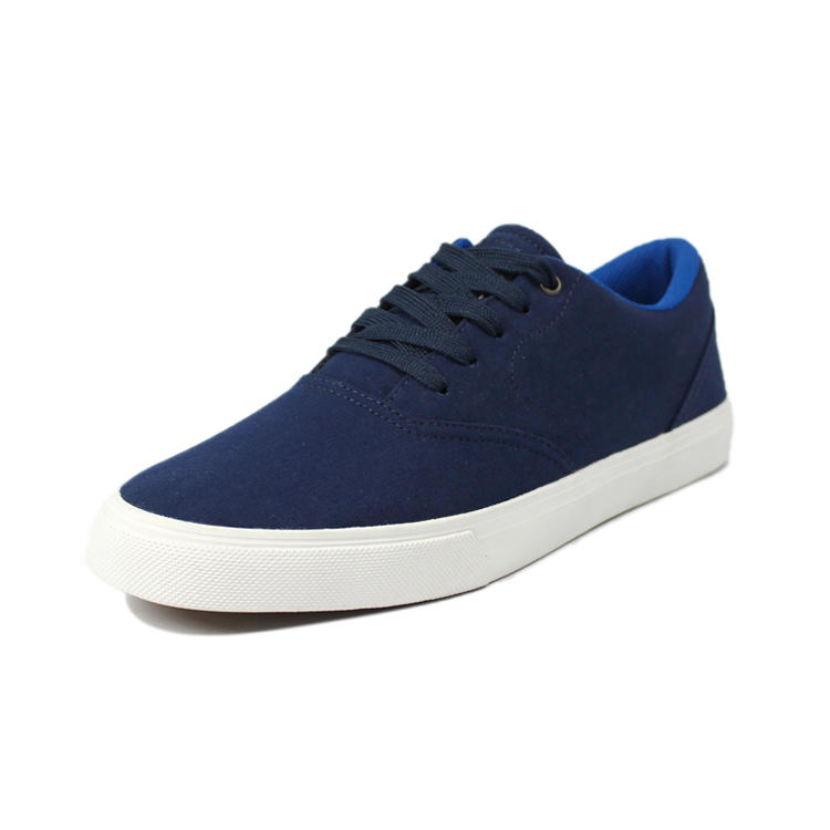 Navy blue casual shoes mens with lace up design