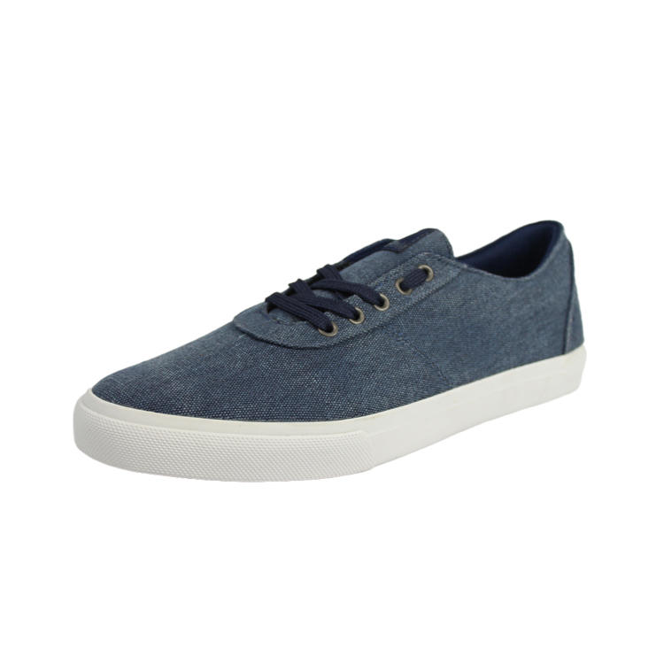Navy blue canvas shoes