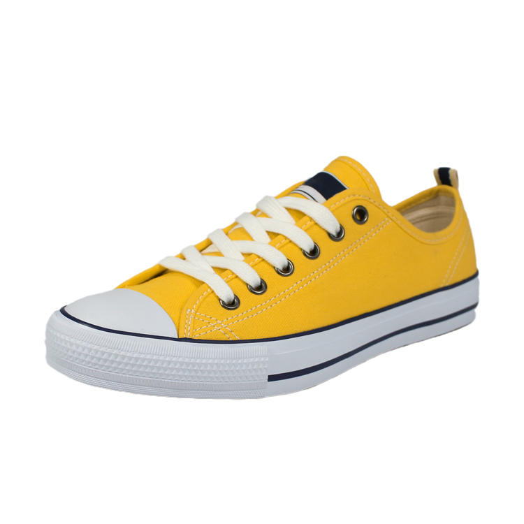 Yellow canvas sneakers