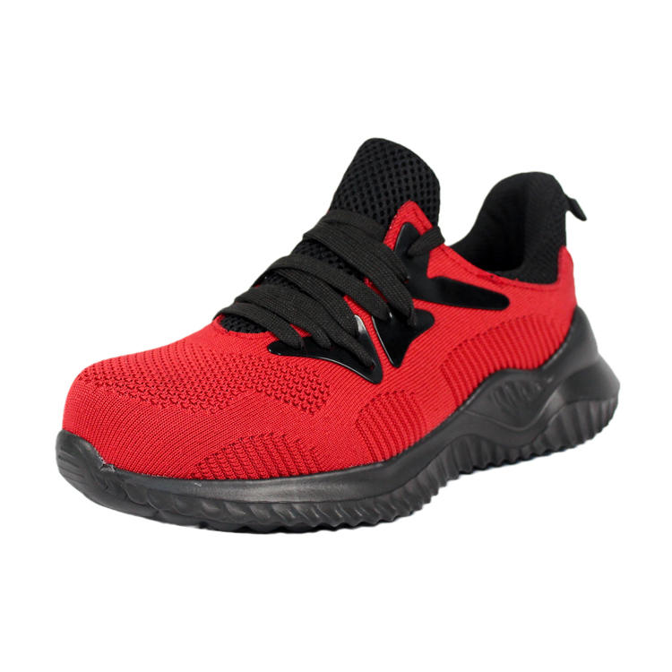 Flying knit  sport safety shoes