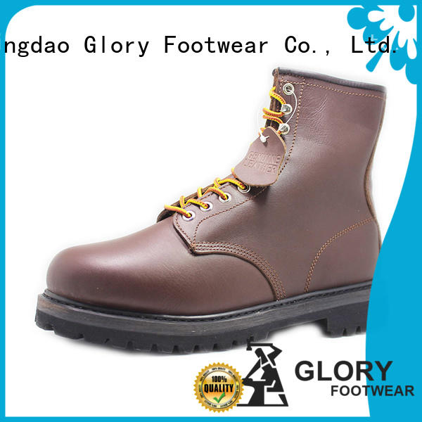 high cut steel toe boots pu customization