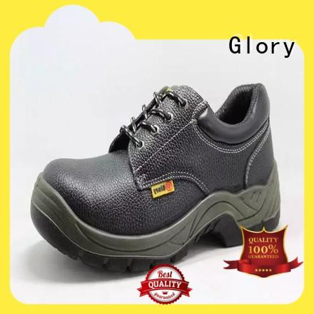 high cut goodyear welted shoes black wholesale for winter day