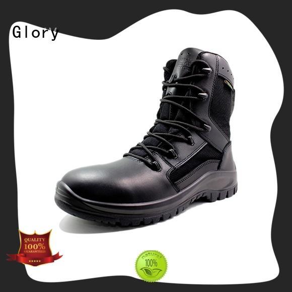 hot-sale black combat boots bulk production for hiking