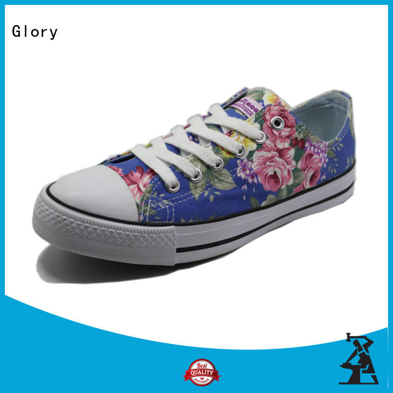 Glory Footwear black canvas shoes from China for winter day
