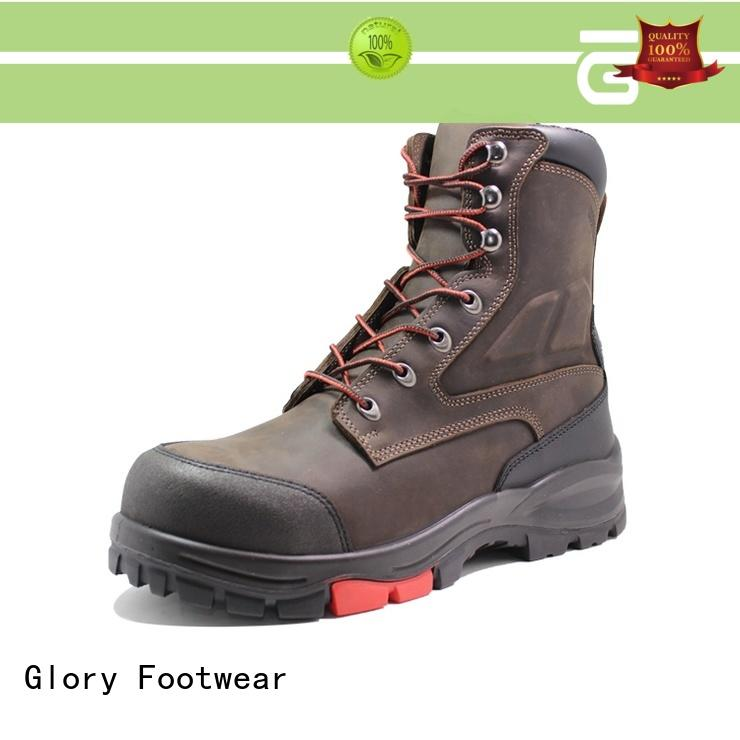 Glory Footwear leather work boots with good price for business travel