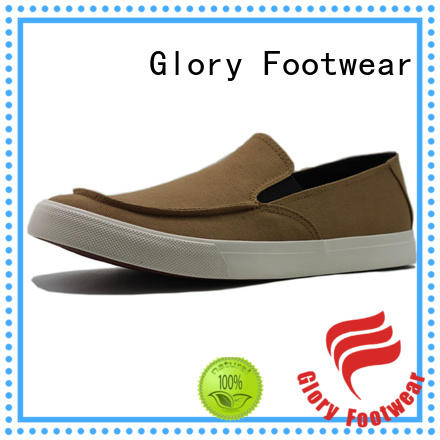 Glory Footwear classy canvas slip on shoes factory price for winter day