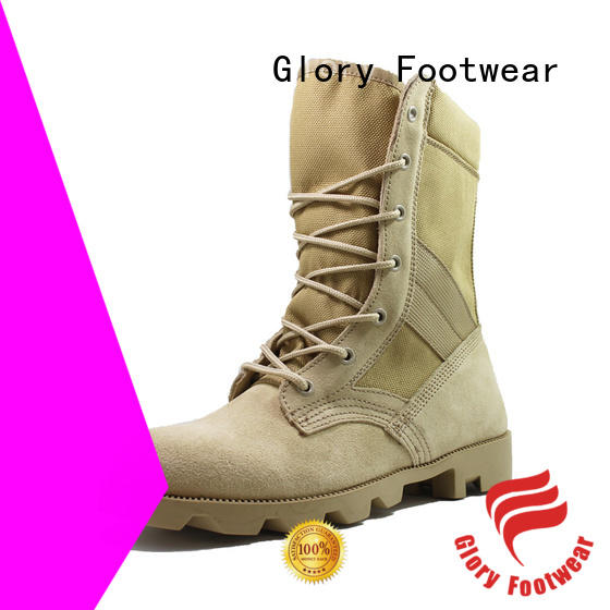 Glory Footwear waterproof military boots by Chinese manufaturer for hiking