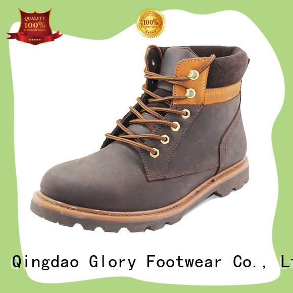 high end black work boots toe factory price for winter day