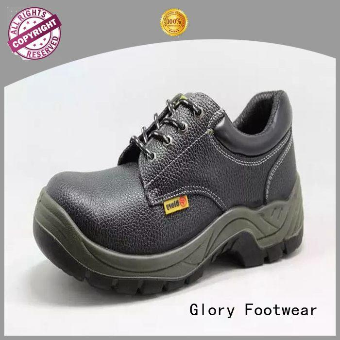 Glory Footwear high cut leather steel toe boots outsole for hiking
