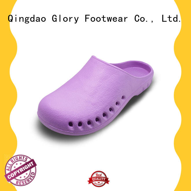 safety white leather nursing shoes bulk production for outdoor activity