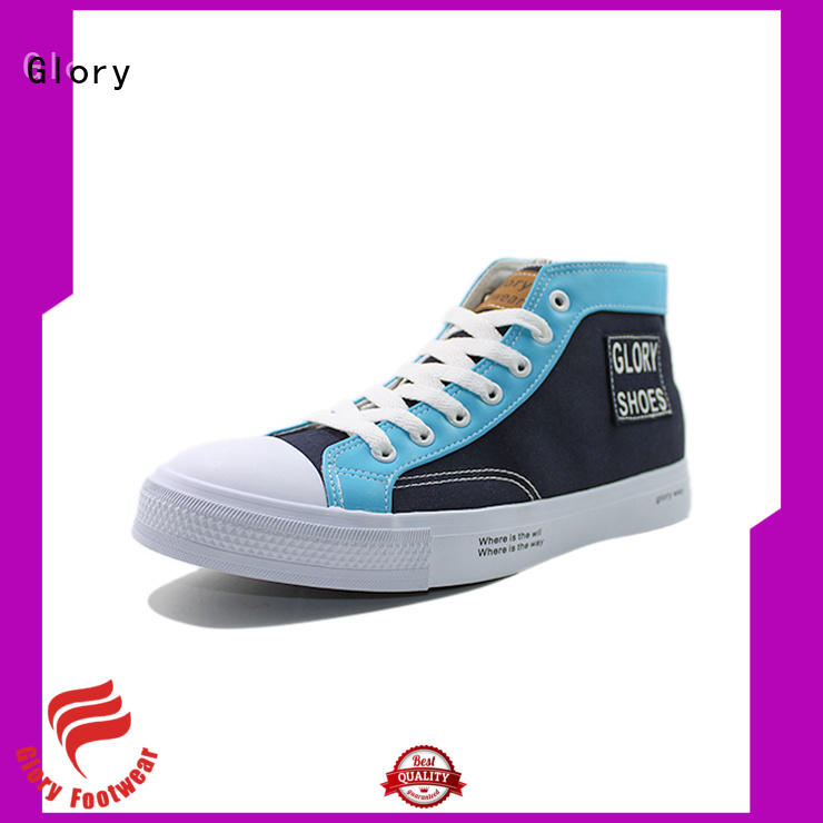 Glory Footwear white canvas shoes with good price for business travel