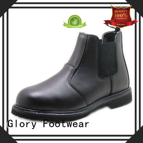 Glory Footwear black work boots from China for outdoor activity